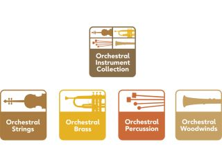 The four Orchestral Instruments can be purchased separately or as a bundle.