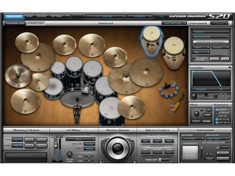 Like most drum ROMplers, SD 2.0 has a kit view.