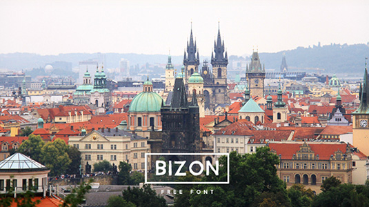 Font of the day: Bizon
