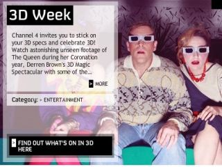 Channel 4 3D week - celebrating tech like it's 1985