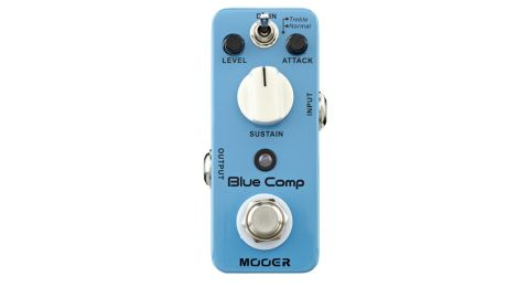 The Mooer Blue Comp is 'inspired' by the classic Boss CS-1 compressor