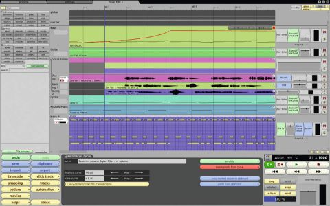 Audio and MIDI editing is done within the main project view.