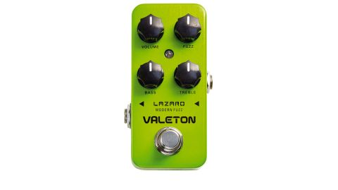 At lower levels of the fuzz knob you'll find harder fuzz sounds