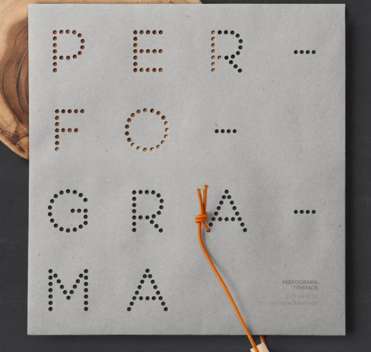 Font of the day: Perfograma