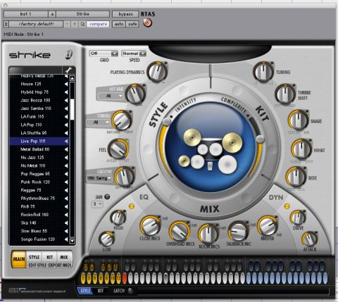 Strike: Digidesign's powerful virtual drum machine for Pro Tools