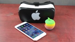 iPhone and VR headset