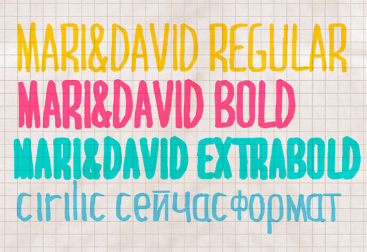 Free handwriting fonts: Mari & David