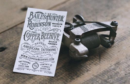 Letterpress business cards: Bailey H Robinson
