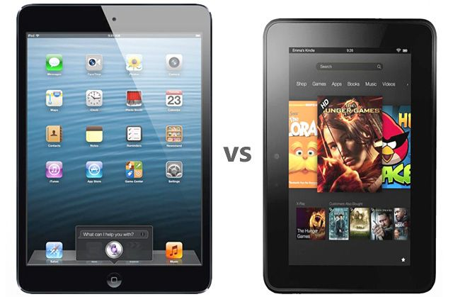 Apple Ipad Vs Kindle: Apple IPad Mini Vs. Amazon Kindle Fire HD: Spec Comparison