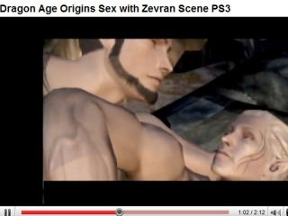 Dragon Age Origins contains a graphic scene of gay man elf sex
