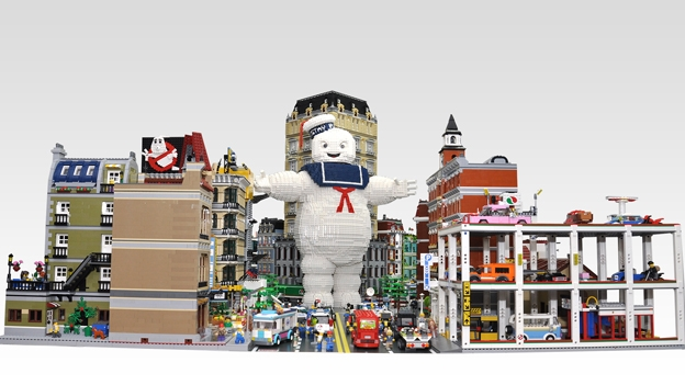 Stay Puft Marshmallow Man Recreated In Lego T3