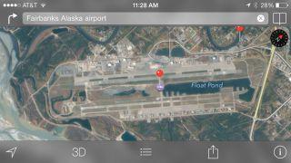 Apple Maps airport runway