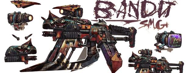 Borderlands Weapon Concept Art