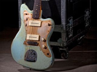 The gorgeous Limited Heavy Relic Jazzmaster in Sonic Blue