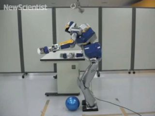 Latest humanoid robots from Japan learn to use obstacles as tools