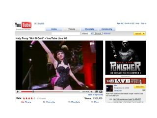 Katy Perry et al now showing on YouTube in widescreen