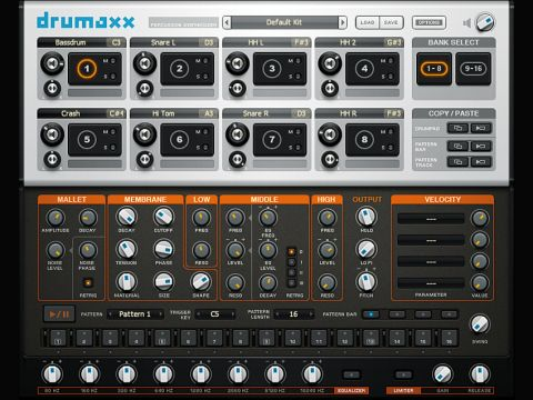 Drumaxx comes with its own 1 to 64 step sequencer.