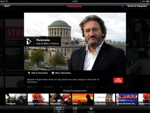 BBC iPlayer on iPad
