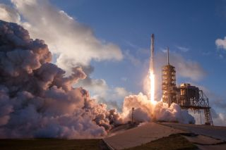 SpaceX's Falcon 9 lifting off