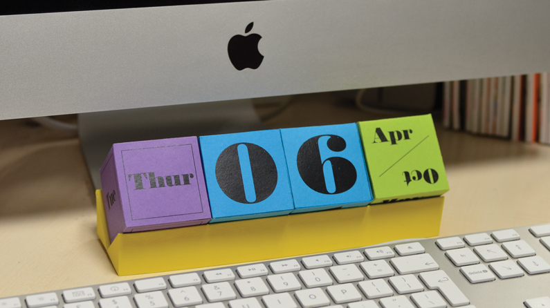 Calendario Indesign.Create A Cube Desk Calendar With Indesign Creative Bloq
