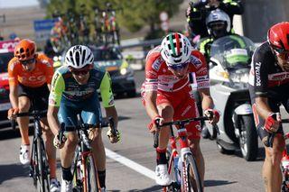 Giro d'Italia 2020 - 103th Edition - 7th stage Matera - Brindisi 143km - 09/10/2020 - Marco Frapporti (ITA - Vini Zabu' - KTM) - Simon Pellaud (SUI - Androni Giocattoli - Sidermec) - photo Luca Bettini/BettiniPhoto©2020