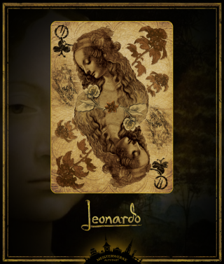 Leonardo da Vinci brought back to life with beautiful playing cards