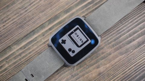 Lead Pebble Time Steel Image on Park Bench