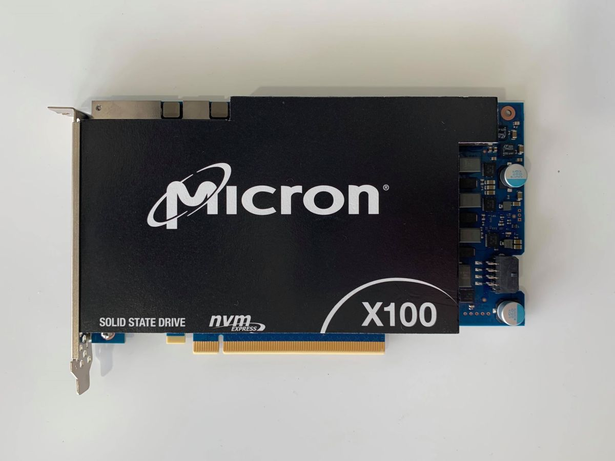 Mickey: Micron X100 3D XPoint world's fastest SSD 9GB/s read/write [IMG]