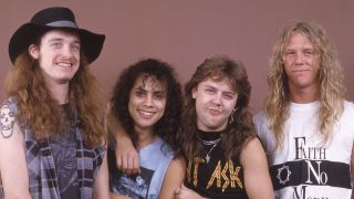 A picture of Cliff Burton with Metallica in 1986