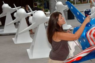 Artistic Endeavours: Space Shuttle Statues to be Painted for Student Scholarships