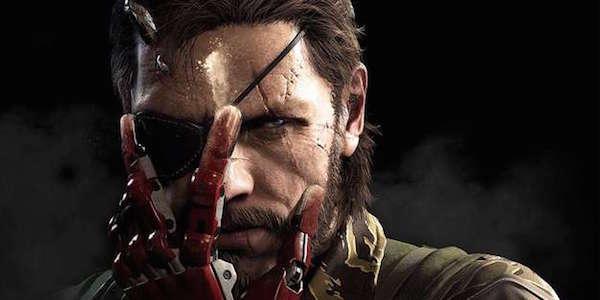 Metal Gear Venom Snake robot hand over face