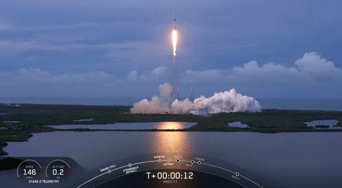 Twice-Flown SpaceX Rocket Launches Huge Communications Satellite