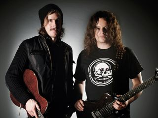 Opeth guitarists Mikael kerfeldt and Fredrik kesson