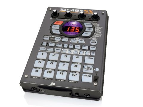 The new SP-404's case is grey rather than silver.