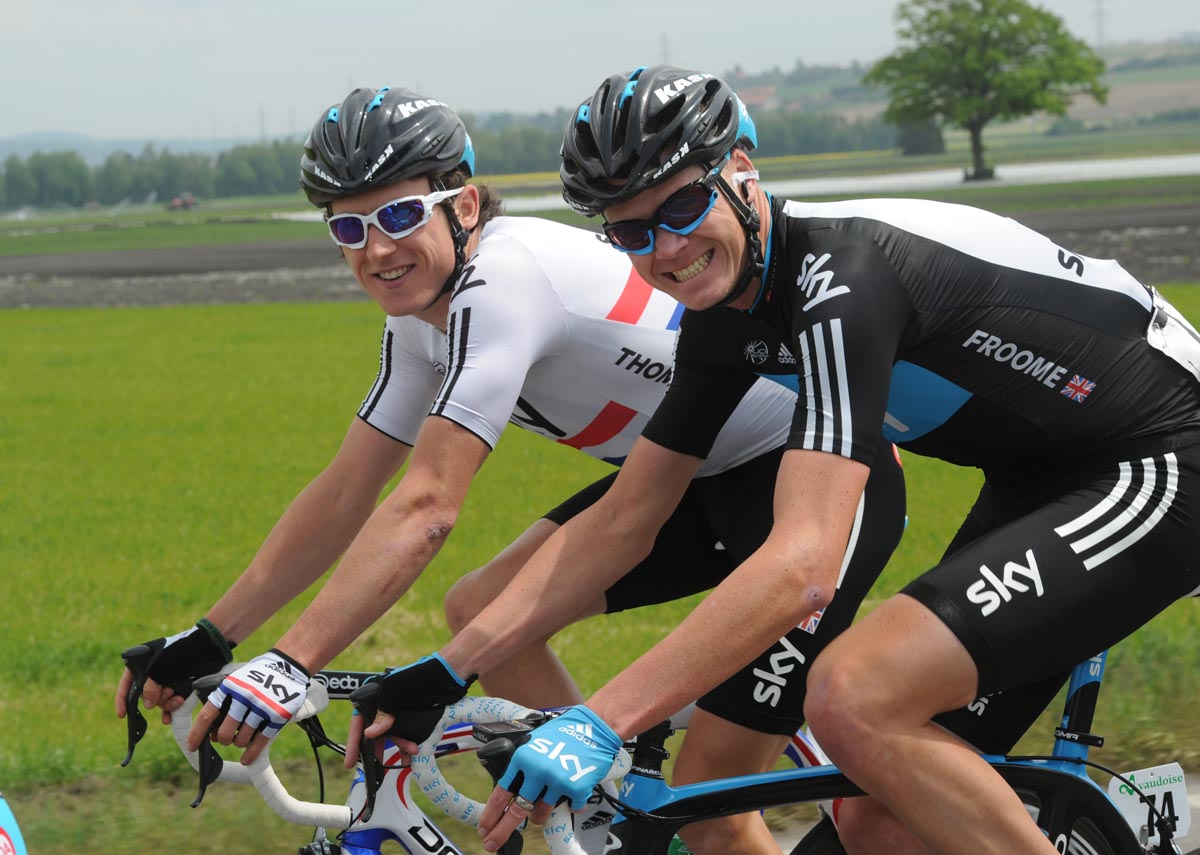 Geraint Thomas and Chris Froome, Tour de Romandie 2011, stage three