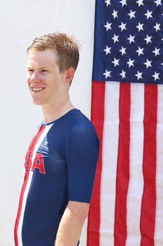 Lawson Craddock (EF Education-Nippo) after winning the USA Cycling Pro Road Championships 2021