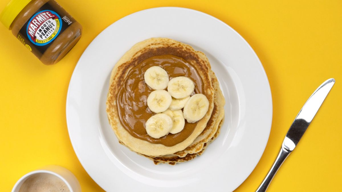 Marmite peanut butter pancakes. Oh yes, definitely a thing