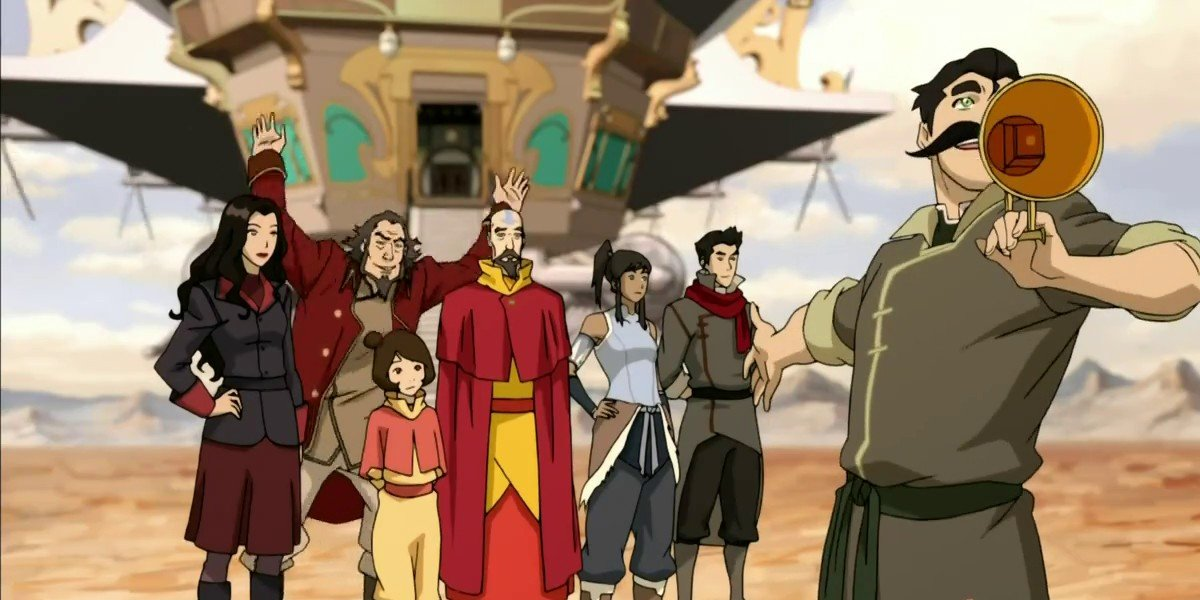 The cast of The Legend of Korra