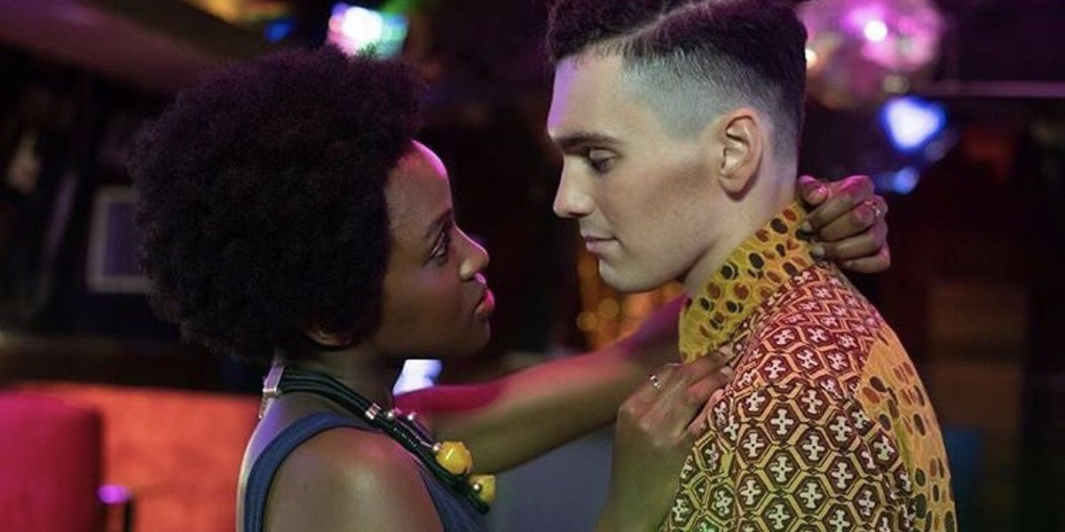 Masali Baduza as Sephy and Jack Rowan as Callum in Noughts And Crosses