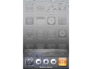 The iPhone 4.0 media widget