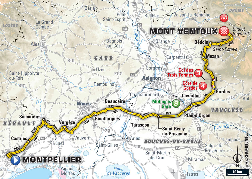 Apt France Map.Tour De France 2016 Stage 12 Preview Cycling Weekly