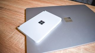 The Surface Duo and Laptop