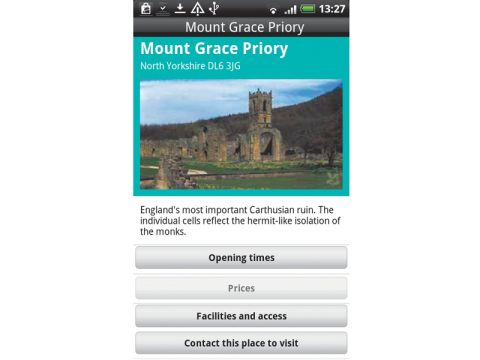 The National Trust app