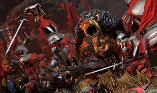 Total War Warhammer troll fight
