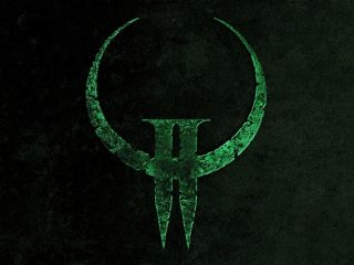 Quake Ii-green-logo-wallpaper