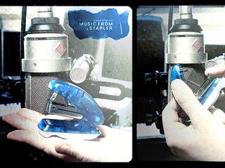 A blue stapler