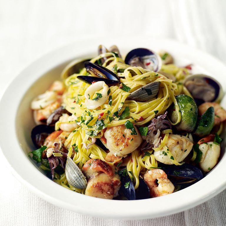 Seafood Linguine recipe-pasta recipes-recipe ideas-new recipes-woman and home