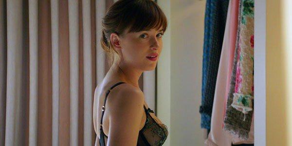 Dakota Johnson Glued on Thong Underwear For Fifty Shades Of Grey
