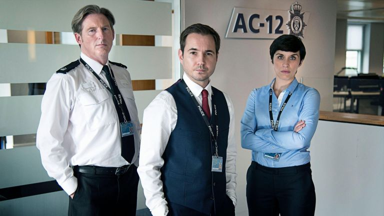 Line of Duty cast Adrian Dunbar, Martin Compston and Vicky McClure