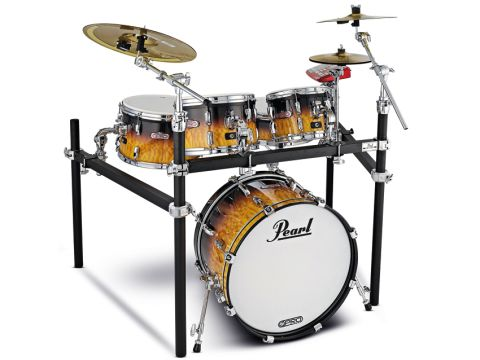 Pearl's Tru-Trac heads make the drums significantly heavier than your average drums